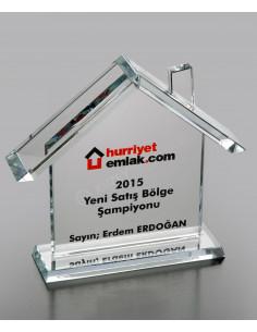 Promosyon Kristal Ev Ödülü Ödül Kristal Plaket