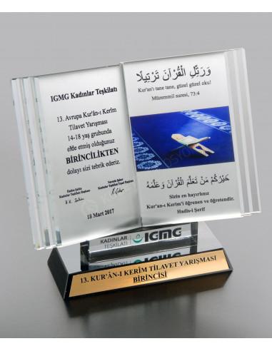 Promosyon Kristal Kitap Ödülü A Ödül Kristal Plaket