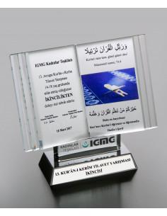 Promosyon Kristal Kitap Ödülü B Ödül Kristal Plaket