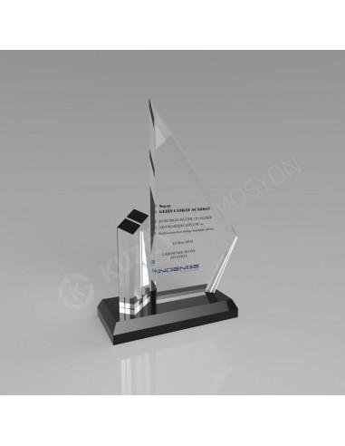Promosyon KZY-117 Ödül Kristal Plaket