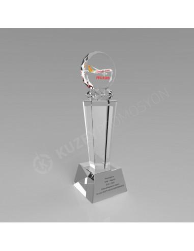Promosyon KZY-121 Ödül Kristal Plaket