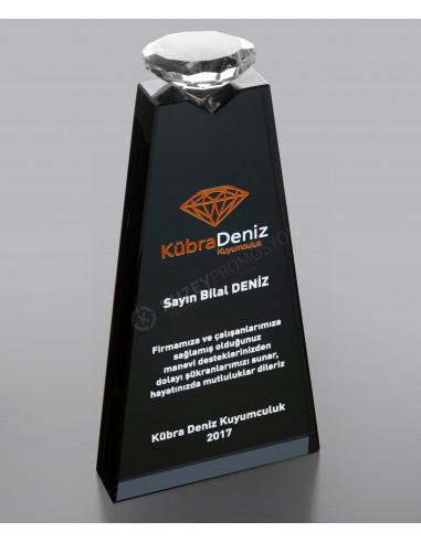 Promosyon KZY-218 FÜME Ödül Kristal Plaket