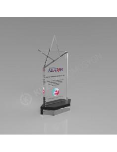 Promosyon KZY-222 Ödül Kristal Plaket
