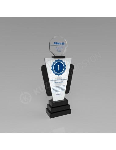 Promosyon KZY-225 Ödül Kristal Plaket