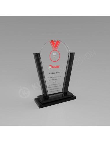 Promosyon KZY-227 Ödül Kristal Plaket