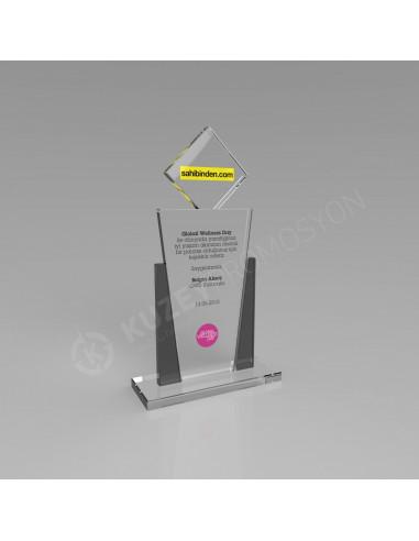 Promosyon KZY-231 Ödül Kristal Plaket