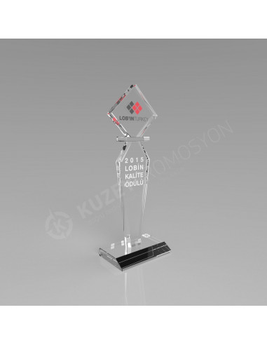 Promosyon KZY233 Ödül Kristal Plaket