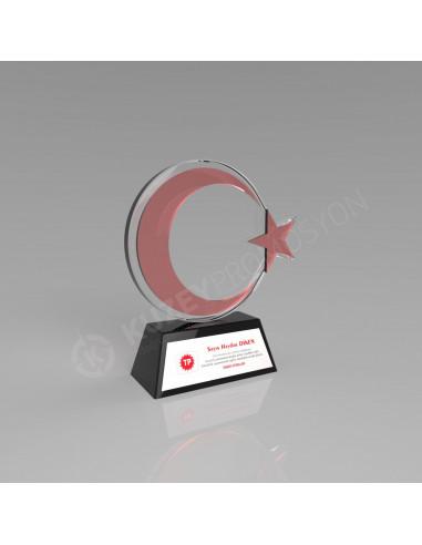 Promosyon KZY-235 Ödül Kristal Plaket