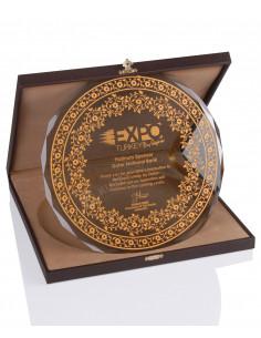 KZYA-1501 Altın Motifli Tabak Plaket