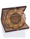 Promosyon KZYA-1502 Altın Motifli Tabak Plaket