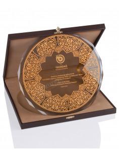 KZYA-1503 Altın Motifli Tabak Plaket