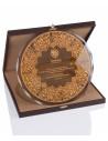 Promosyon KZYA-1503 Altın Motifli Tabak Plaket
