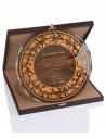 Promosyon KZYA-1504 Altın Motifli Tabak Plaket