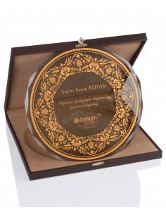 KZYA-1505 Altın Motifli Tabak Plaket