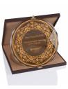 Promosyon KZYA-1505 Altın Motifli Tabak Plaket