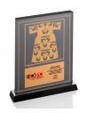 Promosyon KZY-1204 Altın Motifli Kristal Plaket