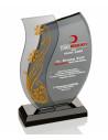 Promosyon KZY-182 GOLD Altın Motifli Kristal Plaket