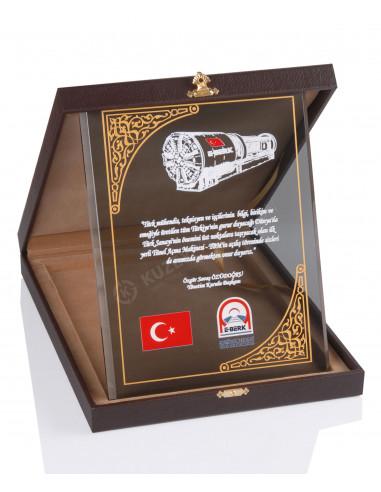 Promosyon KZY-2002 A Altın Motifli Kristal Plaket