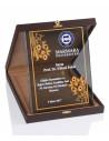 Promosyon KZY-2006 A Altın Motifli Kristal Plaket