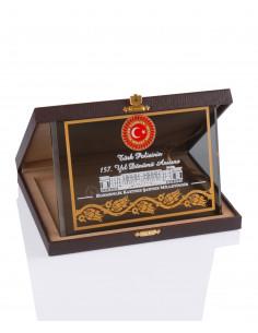 Promosyon KZY-2010 B Altın Motifli Kristal Plaket