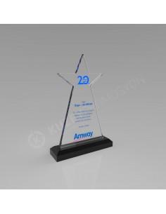 Promosyon KZY-506 Yıldızlı Kristal Plaket