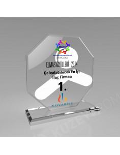 Promosyon KZY-342A Kristal Plaket