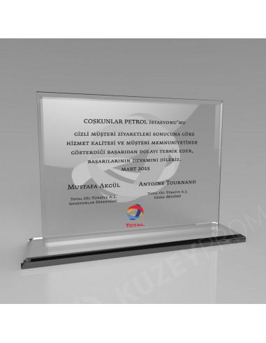 Promosyon KZY-349A Kristal Plaket