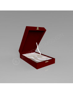 KZY-302 FÜME GOLD Altın Motifli Kristal Plaket